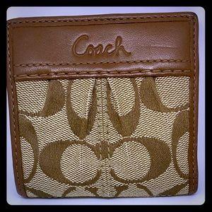 COACH Soho Pleated canvas mini wallet